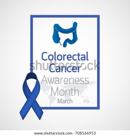 Colorectal Cancer Awareness Month Vector Icon Stock Vector Royalty