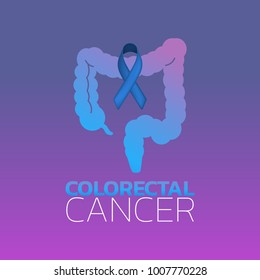Colorectal Cancer icon design. Vector illustration