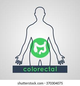 Colorectal logo vector