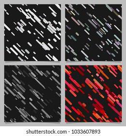 Colored abstract chaotic diagonal stripe pattern background set