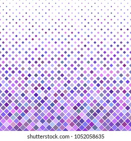 Colored abstract diagonal square pattern background - geometric vector design from purple squares