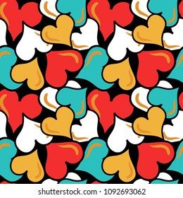 colored abstract seamless pattern in graffiti style quality vector illustration for your design