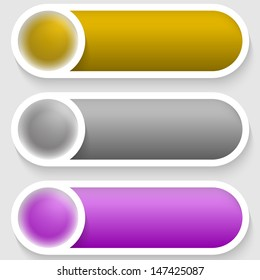 colored abstract text buttons