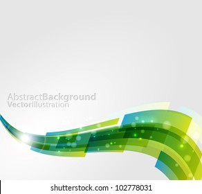 Colored abstract wavy background