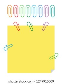 colored attachment and paper vector