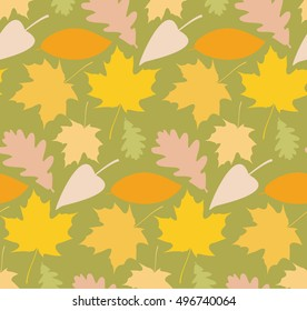 Colored autumn leaves background pattern