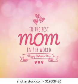 Colored background with text for mother's day