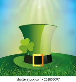 a colored background with a traditional hat for patrick's day