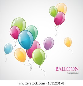 Colored balloon isolated on background. Vector illustration