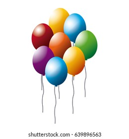 colored balloons bunch party decoration