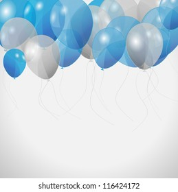 colored balloons, vector illustration