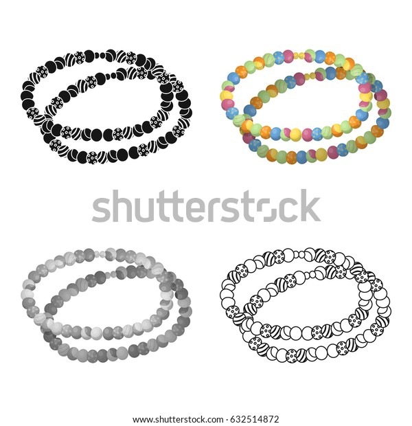 Colored beads.Hippy single icon in cartoon style vector symbol stock illustration web.