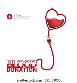 Colored blood donation graphic design, Vector illustration