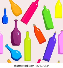 colored bottles seamless