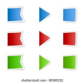 colored business labels set