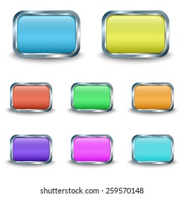 Colored buttons. Vector illustration