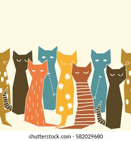 Colored cats.