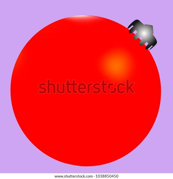 Colored Christmas Ball Christmas Tree Toy Stock Vector