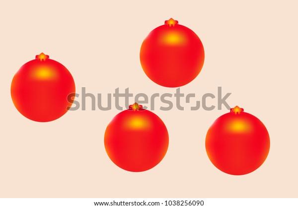 Colored Christmas Balls Pattern Abstract Christmas Stock