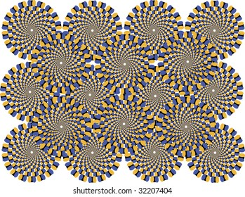 colored circles represent the effect of motion