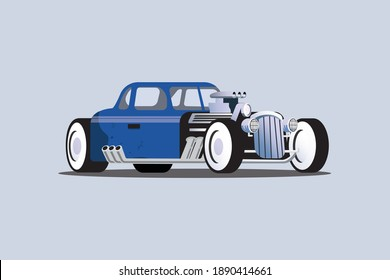 colored classic car vector collection