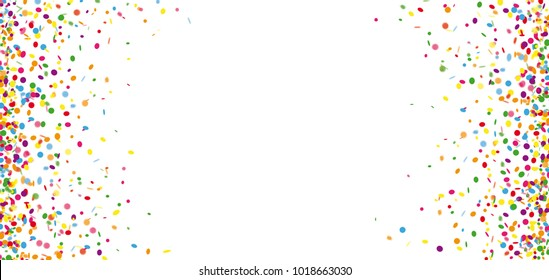 Colored confetti on the white background. Eps 10 vector file.