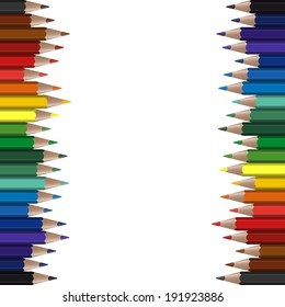 colored crayons seamless