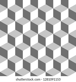 Colored cube pattern. Endless cubic background. Cube pattern. Cube vector. Cube background. Abstract vector. Abstract background. Modern pattern. Geometric cubes background for your design. Design.