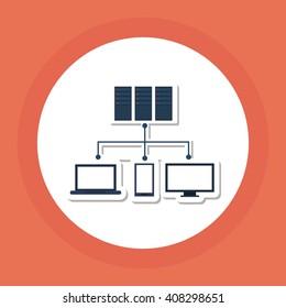 colored data center graphic design, vector illustration