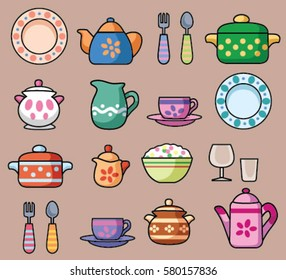 Colored dishes