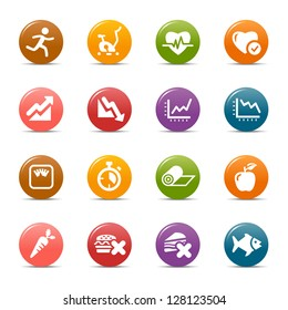 Colored Dots - Health and Fitness icons