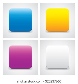 Colored empty icon or button template for your design