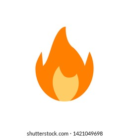 Colored fire icon isolated flame design. Burn emoji. Abstract design element. EPS 10
