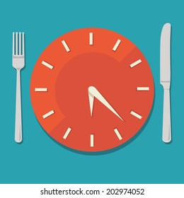 Colored flat design vector illustration concept for dieting, planned way of eating, nutrition regime