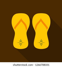 Colored flipflops icon. Slippers icon. Flip flop Isolated on background.