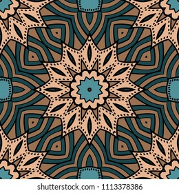 colored floral geometric vector pattern. Vector illustration. ideal for creative and decorative projects