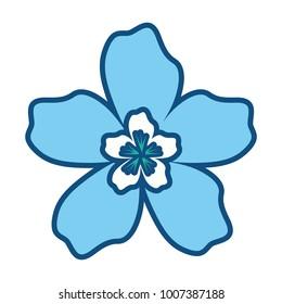 colored flower design vector illustration