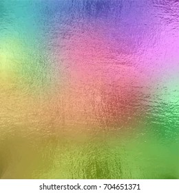 Colored foil texture background, vector