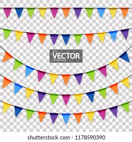 colored garlands background collection for party or festival usage