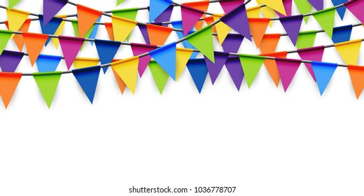 colored garlands background for party or festival usage