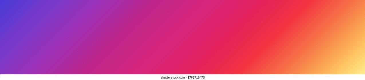 Colored gradient background. Banner template design in popular social network color. Vector illustration