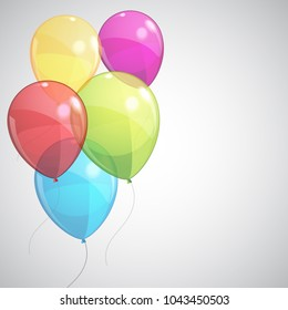 Colored helium balloons - stock vector