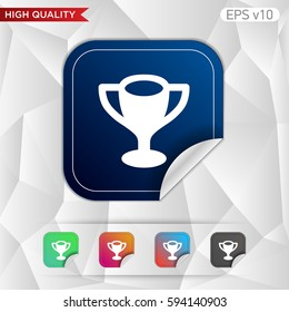 Colored icon or button of award symbol with background