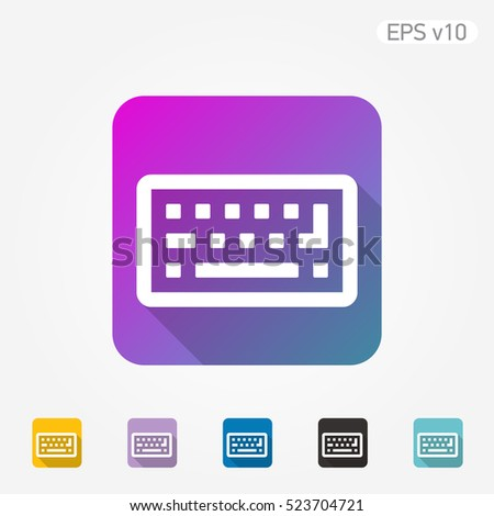 Colored Icon Keyboard Symbol Shadow Stock Vector Royalty Free