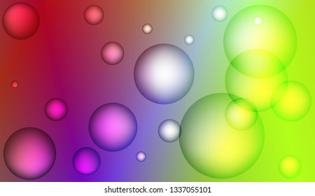 Colored illustration with blurred circles. For creative templates, cards, color covers set. Color Vector illustration