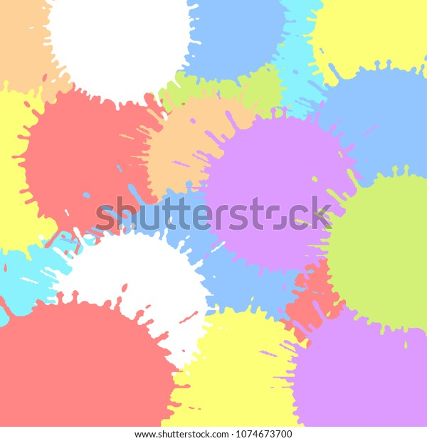 Colored Ink Blots Colorful Texture Vector Stock Vector (Royalty ...