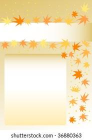 Colored leaves  Illustration