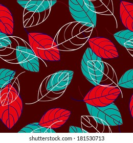 Colored Leaves Seamless