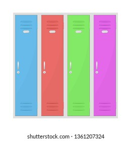 Colored lockers. Vector illustration isolated on white background