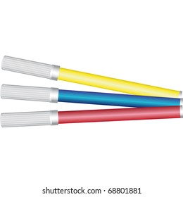 colored markers used in schools by children to draw and color